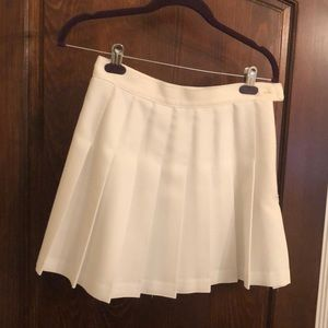 American apparel white school girl mini skirt
